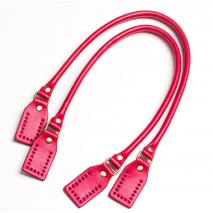 Bag Handle Round Strap Rectangle Tab Pair 60 cms