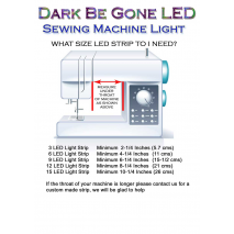 How to Measure for your Dark Be Gone LED Sewing Machine Light