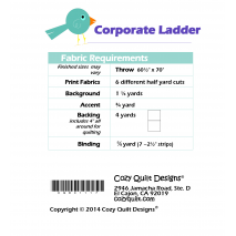 Fabric Requirements Corporate Ladder by Cozy Quilt Designs