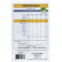 Hash Browns by Cozy Quilt Designs Fabric Requirements