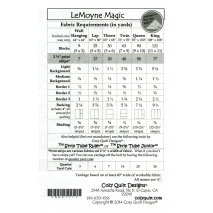 LeMoyne Magic by Cozy Quilt Designs Fabric Requirements
