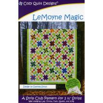LeMoyne Magic Pattern by Cozy Quilt Designs - See Video Sewing Buddies Australia