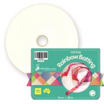 100% Cotton Rainbow Batting a.k.a. Jelly Roll Batting Sewing Buddies Australia