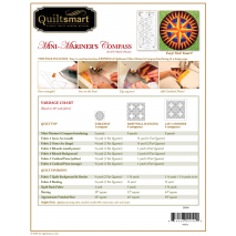Mini Mariner's Compass Classic Pack - by Quiltsmart 2 Sewing Buddies Australia