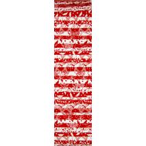 Red and White Rainbow aka Jelly Roll Sewing Buddies Australia