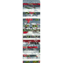 Silver and Grey Christmas Rainbow aka Jelly Roll Sewing Buddies Australia