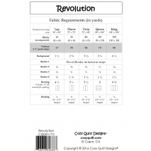 Revolution by Cozy Quilt Designs Fabric Requirements