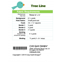 Fabric Requirements Tree Line by Cozy Quilt Designs