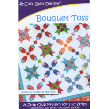 Bouquet Toss Pattern by Cozy Quilt Designs - See Video Sewing Buddies Australia