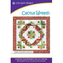 Cactus Wreath Pattern by Cozy Quilt Designs Sewing Buddies Australia