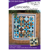Concerto (Bel Canto Block 1) by Cozy Quilt Designs Sewing Buddies Australia