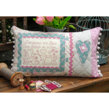 Friendships are Sewn - Cushion by Sally Giblin, The Rivendale Collection Sewing Buddies Australia