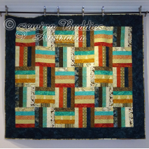 Buddies Strip Quilt Pattern using precut 2 1/2 Inch Strip Fabric a.k.a. Jelly Roll Set square