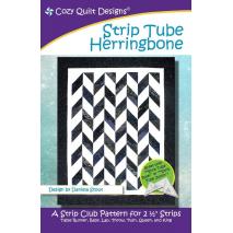 Strip Tube Herringbone Pattern by Cozy Quilt Designs - See Video Sewing Buddies Australia