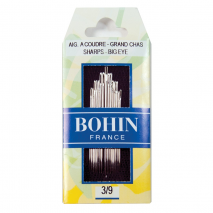 Bohin Sharps Needle Sizes 3 to 9 Big Eye Sewing Buddies Australia