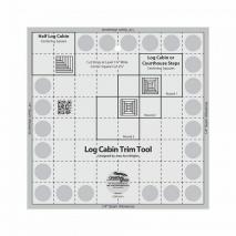 Creative Grids Log Cabin Trim Tool Ruler - 8in finished block Sewing Buddies Australia