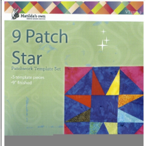 9 Patch Star 9 Inch Patchwork Template - Matilda's Own 2 Sewing Buddies Australia
