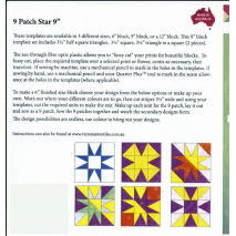 9 Patch Star 9 Inch Patchwork Template - Matilda's Own 3 Sewing Buddies Australia