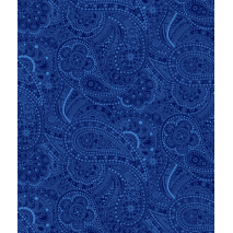Navy- Chelsea Dot Paisley - W108in Sewing Buddies Australia