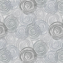 Light Grey - Textured Circles - 2-Ply Flannel - W108in Sewing Buddies Australia