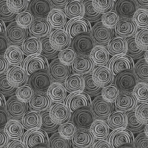 Dark Grey - Textured Circles - 2-Ply Flannel - W108in Sewing Buddies Australia