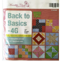 Back To Basics 4G Patchwork Template Set - Matilda's Own 2 Sewing Buddies Australia