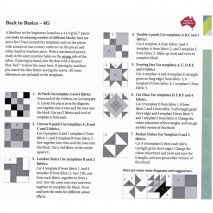 Back To Basics 4G Patchwork Template Set - Matilda's Own 4 Sewing Buddies Australia