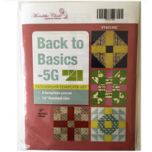 Back To Basics 5G Patchwork Template Set - Matilda's Own Sewing Buddies Australia