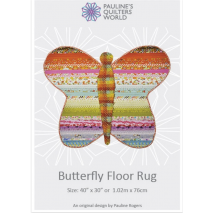Butterfly Floor Jelly Roll Rug Pattern - Sewing Buddies Australia