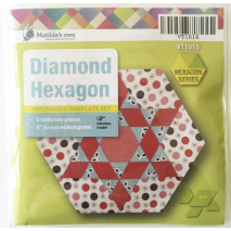 Playing with Hexagons Complete Set Patchwork Template Matilda's Own 5 Sewing Buddies Australia
