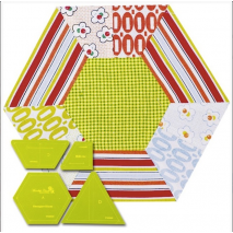 Hexagon Slices Patchwork Template - Meredithe Clarke Collection 2 Sewing Buddies Australia