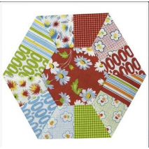 Hexagon Slices Patchwork Template - Meredithe Clarke Collection 3 Sewing Buddies Australia
