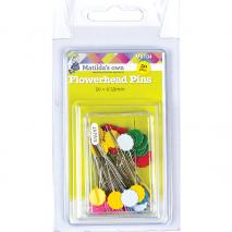 Flower Head Pins (50) 0.5mm x 36mm - Matilda's Own Sewing Buddies Australia