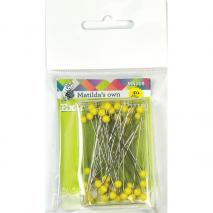 Extra Long Pins - 44mm x 0.58mm x 40 Matilda's Own Sewing Buddies Australia