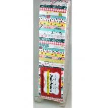 Neutral Pastels Rainbow aka Jelly Roll or Bali Pop Sewing Buddies Australia