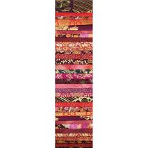 Red Centre Gold Fireworks Rainbow aka Jelly Roll Sewing Buddies Australia