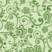 Green- Floral Swirl - W108in Sewing Buddies Australia