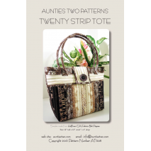 Twenty Strip Tote by Aunties Two Patterns ~ Jelly Roll Friendly Sewing Buddies Australia