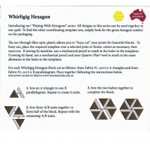 Whirligig Hexagon Patchwork Template Matilda's Own 4 Sewing Buddies Australia