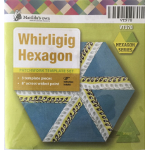 Whirligig Hexagon Patchwork Template Matilda's Own 2 Sewing Buddies Australia