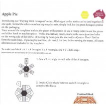 Apple Pie Patchwork Template Set - Playing with Hexagons 2 Sewing Buddies Australia