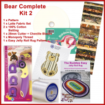 Bear Floor Jelly Roll Rug Pattern and Kit (2 Kits Available) 2 Sewing Buddies Australia