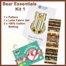 Bear Floor Jelly Roll Rug Pattern and Kit (2 Kits Available) Sewing Buddies Australia
