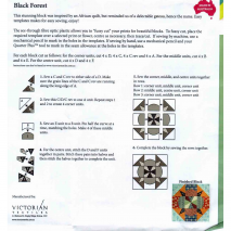 Black Forest Patchwork Template - Matilda's Own 3 Sewing Buddies Australia