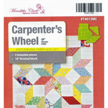"Carpenters Wheel 18"" Patchwork Template Meredithe Clark Signature Collection Sewing Buddies Australia"