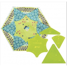Curved Star Hexagon Patchwork Template Matilda's Own 2 Sewing Buddies Australia