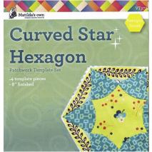 Curved Star Hexagon Patchwork Template Matilda's Own Sewing Buddies Australia