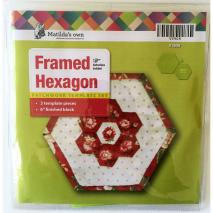 Framed Hexagon Patchwork Template Matilda's Own 2 Sewing Buddies Australia