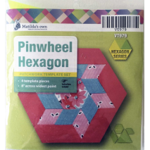 Pinwheel Hexagon Patchwork Template Sewing Buddies Australia