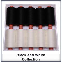 Black and White 10 Colour Set Rasant Thread 1000M Sewing Buddies Australia